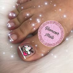 Pedicure Nail Art, Toe Nail Art, Nail Spa, Cute Pedicures, Cute Nails, French Toe Nails, Nail Art For Kids, Blue Toes, La Nails