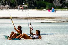 New Girls Camp: spend a wonderful time and learn or expand your #kitesurfing skills at one of the prettiest beaches.