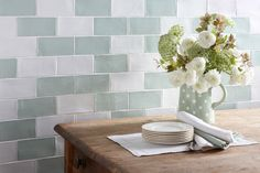 The Rustic, Handmade Style Of The Artisan Eau De Nil Wall Tile Makes It A  Great Addition To Vintage Style Schemes Throughout The Home.