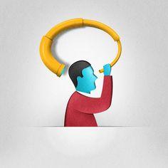 Paper Cut Illustrations by Eiko Ojala