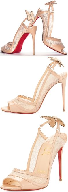 75479857c5dd Christian Louboutin  Hot Spring Butterfly  100mm Red Sole Pumps Christian  Louboutin Outlet