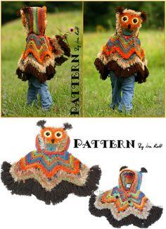 DIY Crochet Or Knit Cute Owl Kids Clothes