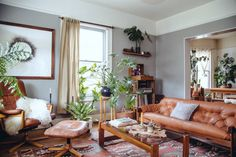 Bursting With Plants, a 1910 Portland Foursquare for a Florist and Barista | Design*Sponge