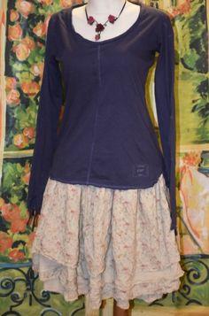 Ewa i Walla, Shirt 44484, Baumwolle-Leinen, blue