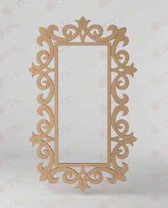 Cnc Kesim Dekoratif Ayna Çerçevesi Cnc -Cutting Decorative Mirror Frame www.cncahsap.net