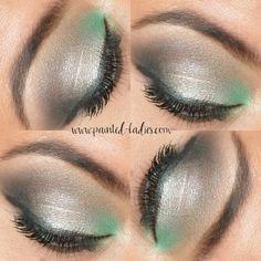 Smoky mermaid eyeshadow