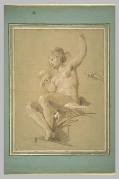 Inventaire du département des Arts graphiques - Jeune femme tenant une coupe, assise sur une draperie - TARAVAL Jean Hugues