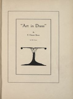 Art in Dress, P. Clement Brown, 1922; University of Wisconsin Digital Collections