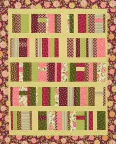 Gather a stack of fat quarters. Piece quilt blocks and sashing to mimic books on shelves for your favorite bookworm.