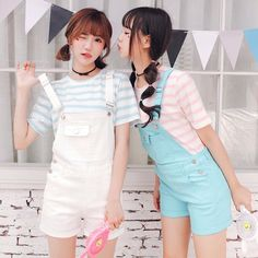 """Students candy color straps cowboy shorts SE9810      Coupon code """"cutekawaii"""" for 10% off"""