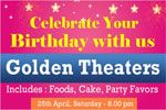 Celebrate your birthday with us by golden birthday banner printing service online at www.bannerbuzz.ca