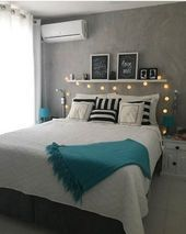 22 Creating Stylish Bedroom with Turquoise Touch – Living Room Cozy 22 Creati… - Modern Cozy Living Rooms, Living Room Decor, Farmhouse Style Bedrooms, Farmhouse Ideas, Modern Farmhouse, Bedroom Turquoise, Living Room Turquoise, Cute Bedroom Ideas, Stylish Bedroom