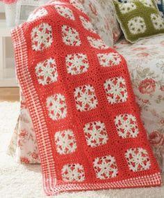 Winter Wonderland Afghan and Pillow | AllFreeCrochetAfghanPatterns.com