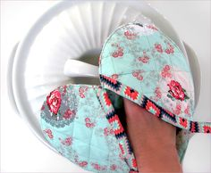 Heart Shaped Hot Pads | Sew4Home