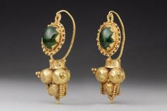 "Roman Gold ""D"" Loop Earrings 