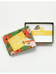 Rifle Paper Co Hello Darling stationery set