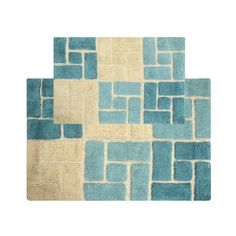 Chesapeake Berkeley Bricks Tufted 2-pc. Bath Rug Set, Turquoise/Blue (Turq/Aqua)