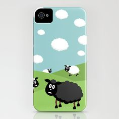 Black Sheep iPhone Case by Pedro Nogueira - $35.00