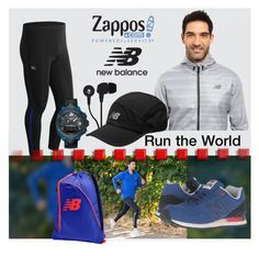 """""""Contest Entry: Run the World in New Balance"""" by interesting-times ❤ liked on Polyvore featuring New Balance, Skullcandy, New Balance Classics, Tissot, men's fashion, menswear and NewBalance"""
