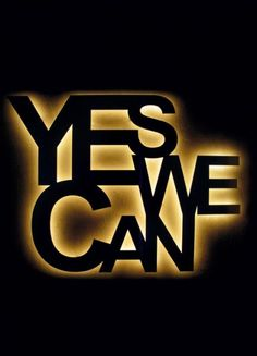 yes we can light try diy with wood letters & rope or ribbon lighting stuck in america | Alvaline | Viabizzuno