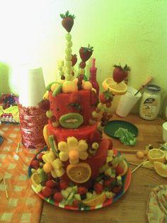 cake fruit/pastel de frutas
