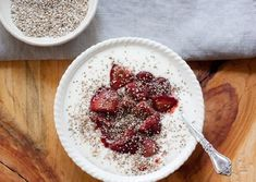 Homemade Yogurt with Roasted Strawberries & Toasted Amaranth by Megan Gordan - food - Make Your Own Yogurt, Making Yogurt, Cut Strawberries, Roasted Strawberries, Yogurt Maker, Homemade Yogurt, Brain Food, Summer Fruit, Kitchens