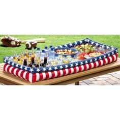 Patriotic Inflatable July 4th Backyard Party Buffet Cooler