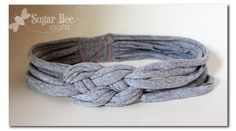knotted headband from t-shirt yarn - a how-to tutorial | Sugar Bee Crafts