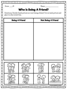 Friendship activities are a great way to begin your back to school lesson plans. Creating a caring classroom climate and teaching friendship. Bullying Activities, Kindness Activities, Friend Activities, Counseling Activities, Bullying Lessons, Teaching Friendship, Friendship Crafts, Friendship Lessons, Friendship For Kids