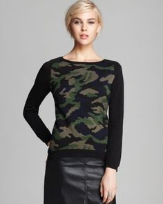 camo sweater, yes please