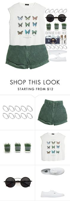 """""""Simple"""" by alex-fox1 ❤ liked on Polyvore featuring ASOS, MANGO, Chicnova Fashion, Vans, simple, shorts, simpleoutfit and simpleset"""