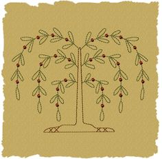 Free Primitive Embroidery Patterns | Primitive Machine Embroidery Designs