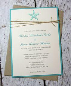 SAMPLE Starfish Wedding Invitations/Beach by TorisCustomCreations, $7.00