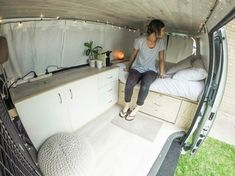 white van life layout