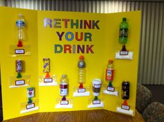 Health Fair - sugar content in drinks.