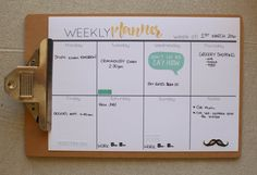 Weekly Planner from Cathartic Malarkey