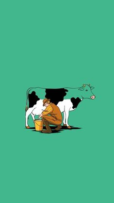 Cute Milk Cow Cartoon Background for Powerpoint Slides Cow Pictures, Best Funny Pictures, Cow Wallpaper, Magazine Pictures, Funny Illustration, Creative Illustration, Illustrations, Cute Cows, Cartoon Background