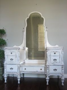 Vanity-I want an old school vanity so bad!