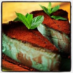 Raw Mint Cheesecake from Alchemy - I cannot wait to go here in February!!! Everything looks amazing :)