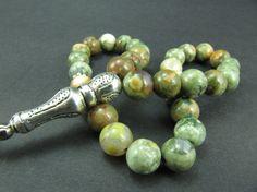Turkish Islamic 33 Prayer Beads Rhyolite Tesbih by GreenPalace