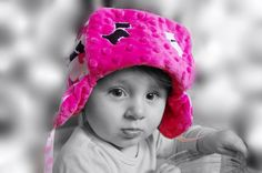 girl pink hat