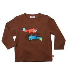 Zutano Baby Boys Happy Camper Long Sleeve T-Shirt