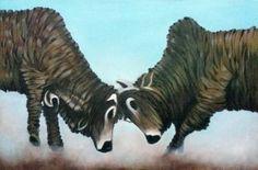 """Saatchi Art Artist sio jaya; Painting, """"AduSapi"""" #art"""