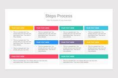 Steps Process With Text Boxes PowerPoint Diagrams is a professional Collection shapes design and pre-designed template that you can download and use in your PowerPoint. The template contains 20 slides you can easily change colors, themes, text, and shape sizes with formatting and design options available in PowerPoint. Text You, Color Change, Boxes, Diagram, Shapes, Templates, Colors, Collection, Design