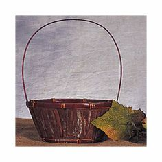 8 in. x 4 1/2 in. Bark Basket w/Handle w/Liner