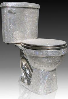 Swarovski Crystal Studded Toilet, $75,000... just because it's CRAZY!