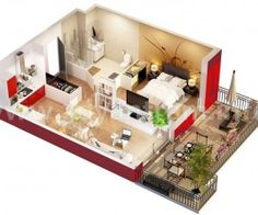 studio apartment floor plan