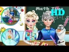 ♥ Disney Frozen Games Elsa Jack School Episode Elsa Frozen Game  ♥
