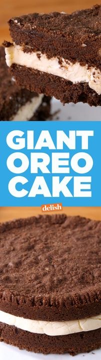 Why have one Oreo when you can gave a Giant Oreo Cake? Get the recipe from Delish.com.
