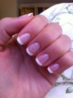 Pink gel french manicure My Absolute FAVORITE! Just ask Pinkies! Lol